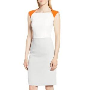 NWOT BOSS Dekala Colorblock Sheath Dress